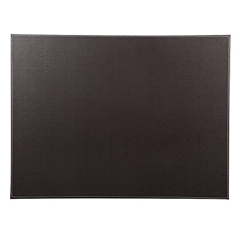 KINGFOM Desk Pad & Mat 24 x 18 Protector Large Mouse Pad PU Leather for Desktops and Laptops (Brown)