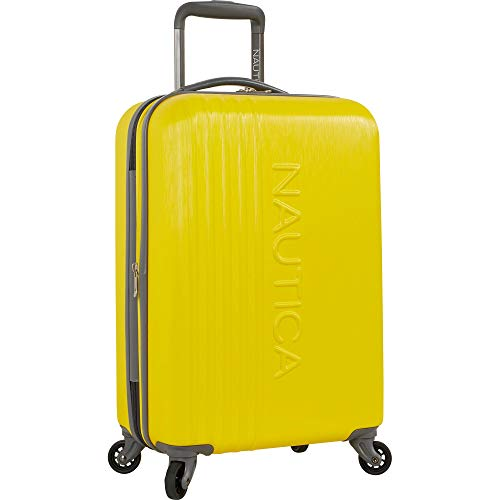 d6d572ab4 Nautica Hardside Carry On Luggage - 20 Inch Spinner Wheels Suitcase  Lightweight Rolling Travel Bag for