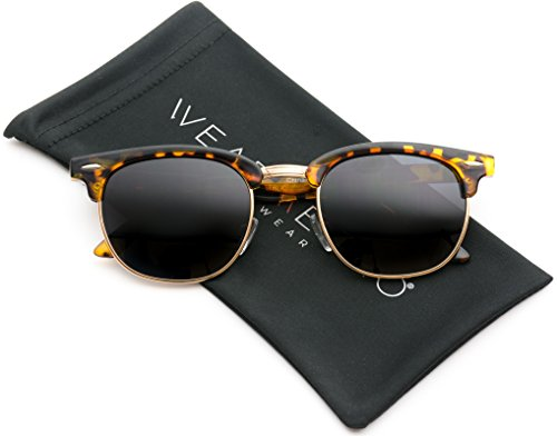 WearMe+Pro+-+Classic+Half+Frame+Polarized+Semi-Rimless+Rimmed+Sunglasses