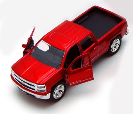 Chevy Silverado Pickup Truck, Red - Jada Toys Just Trucks 97017 - 1/32 scale Diecast Model Toy Car (Toys And Models compare prices)