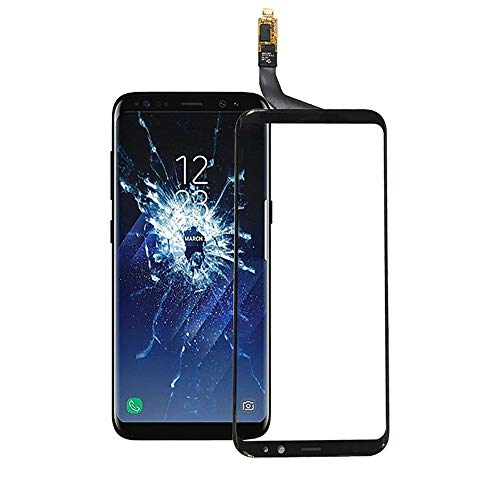 for Samsung S8 Plus Touch Screen Digitizer Outer Screen Glass for Samsung for Galaxy S8 Plus Front Glass Lens Panel with Sensor Replacement (not Include LCD)