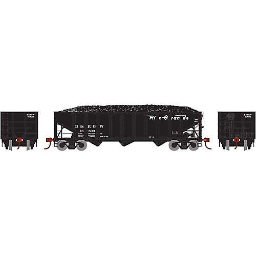 [宅送] Athearn ath73297 Load Ho B07687XD3L RTR/ 40 ' 3-bay Ribbed Hopper w/ Load , D & RGW # 18503 B07687XD3L, 佐野米店:c50c7e4f --- a0267596.xsph.ru
