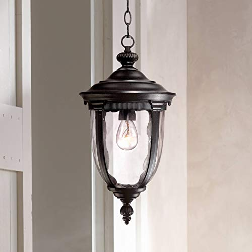 Bellagio Traditional Outdoor Ceiling Light Hanging Texturized Black 18