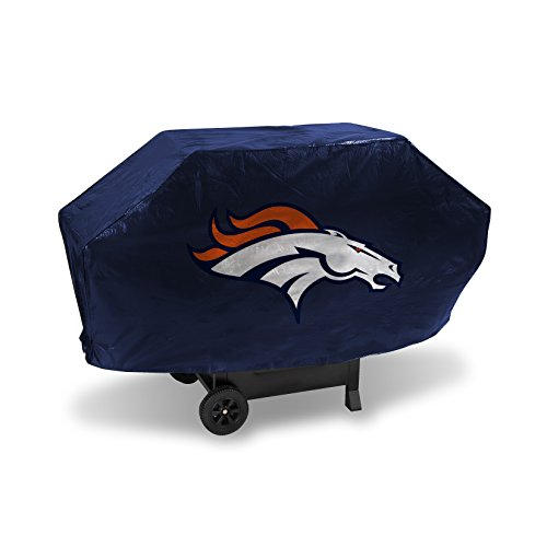Nfl Gear Grill Cover - NFL Denver Broncos Vinyl Padded Deluxe Grill Cover
