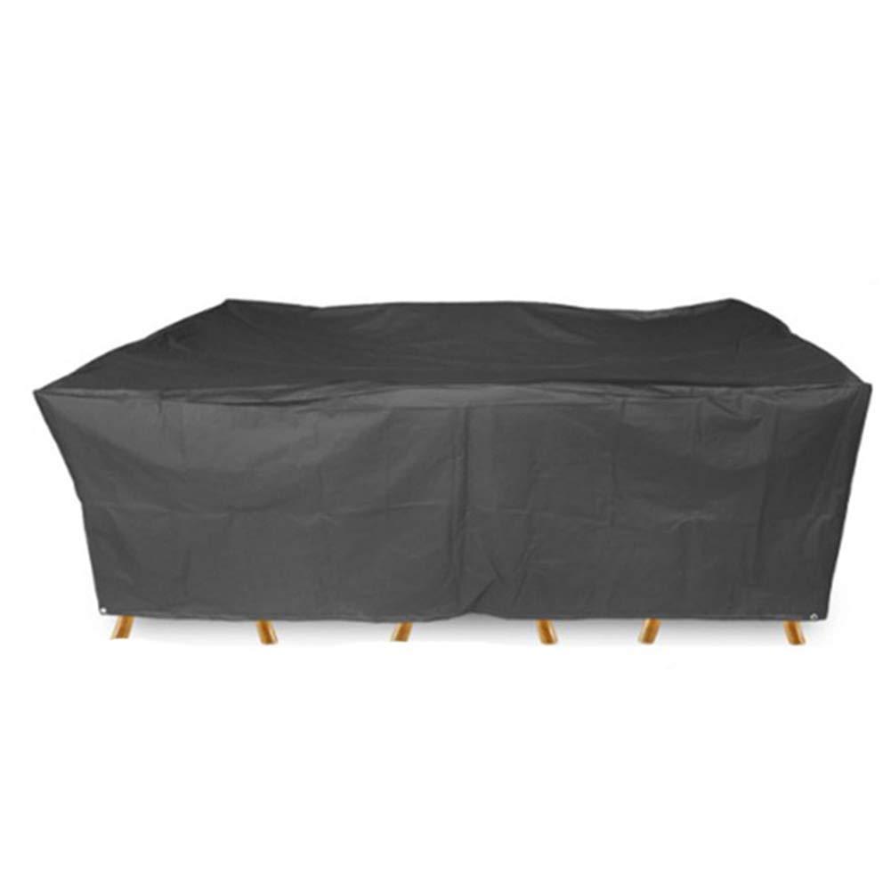 QING MEI 210Dオックスフォード布屋外家具カバー庭防塵防水カバーLinyuanテーブルと椅子カバー A+ (サイズ さいず : 325x208x58CM) 325x208x58CM  B07KS51M2T