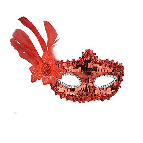 Halloween Party KIKOY Sexy Feather Sequins Elegant Eye Face Mask Masquerade Ball Carnival -