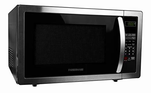Farberware Classic FMO11AHTBKB 1.1 Cu. Ft. 1000-Watt Microwave Oven with LED Lighting, Stainless Steel