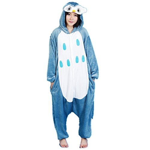 [MizHome Bird Series Deluxe Party Costume One-Piece Jampsuit Pajamas Owl S] (Bird Costumes Women)