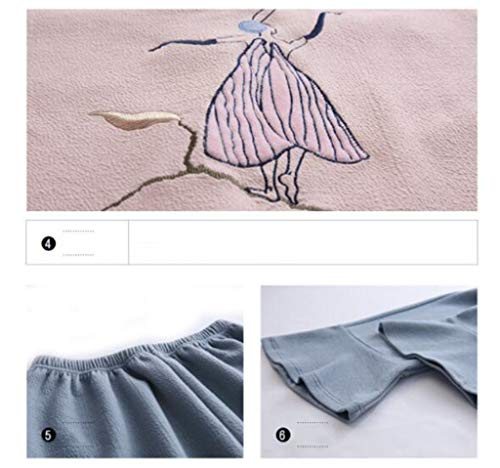 Damas De Casual Manga Algodón xl Mymao Simple Home Sexy Larga Pijama Cálido Ropa zwxq5t4