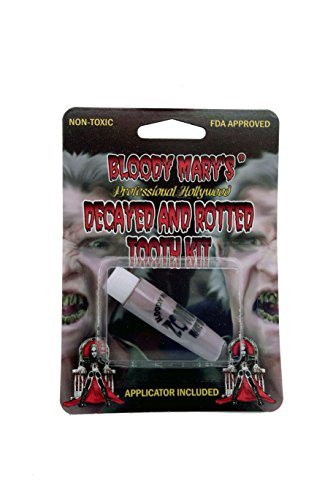 Bloody Mary F/X Monster Zombie Tooth Paint, Decay Grey (Homemade Halloween Makeup Zombie)