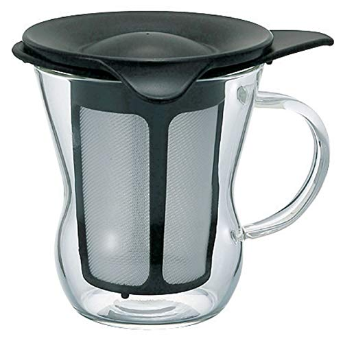 Hario 1-Cup Tea Maker, Black (One Cup Tea Maker)