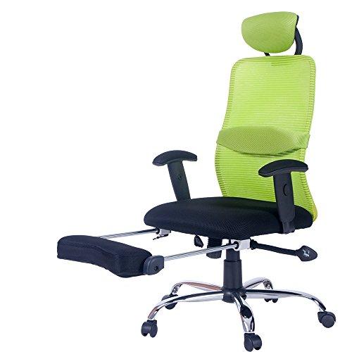 Merax Ergonomic Series Lunch Break Office Reclining Mesh Chair (Green) For Sale