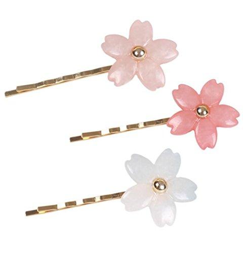 fleur de cerisier Hair Hair Hairpin Pate Boddy Couvre-chef Bijoux de la tête de tête