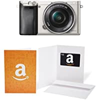 Sony Alpha a6000 Mirrorless Digital Camera with 16-50mm Power Zoom Lens (Silver) + $50 Gift Card