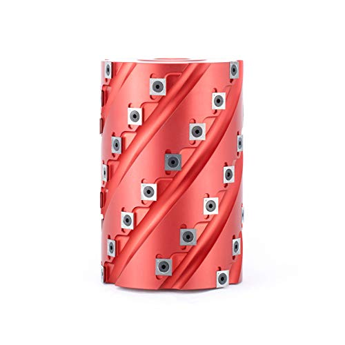 Amana Tool 61285 Insert Carbide Aluminum Roughing Spiral Planer 45 Teeth x 5 D x 7-1/8 CH x 1-1/4 Bore Shaper ()