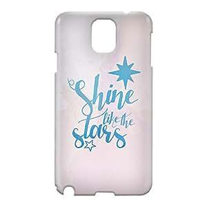 Loud Universe Samsung Galaxy Note 3 3D Wrap Around Shine Like Stars Print Cover - White