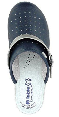 Inblu Pantofole Sanitaire Chaussons Femmes Mod. 50-35 Bleu