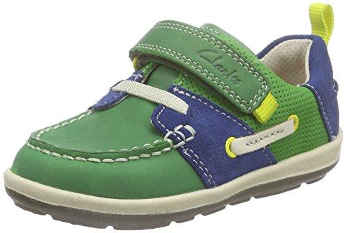 Botas Fst niños Bebé Verde Clarks Senderismo Softlyboat Kids green De Lea Combi tx6EtRw0q