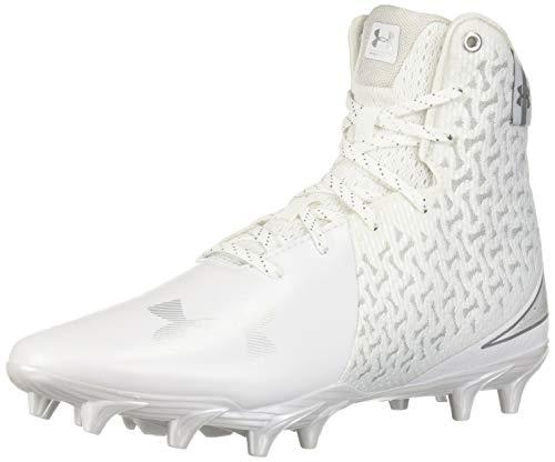 Under Armour Women's Highlight MC Lacrosse Shoe (100)/White, 8 (Under Armour Shoes Cleats)