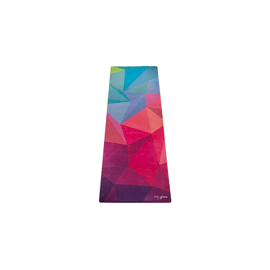 YOGA DESIGN LAB | THE COMBO YOGA MAT | 2 in 1 Mat+Towel | Eco Luxury | Designed in Bali | Ideal for Hot Yoga, Power, Bikram, Ashtanga, Sweat | Studio Quality | Includes Carrying Strap!