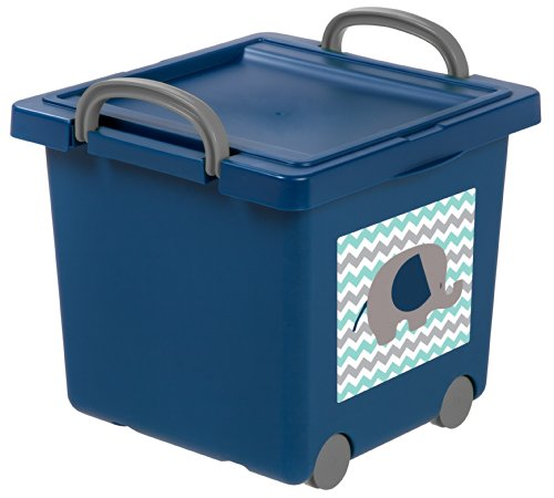 IRIS Toy Storage Box Blue