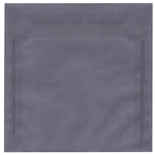 JAM PAPER 8 x 8 Square Translucent Vellum Invitation Envelopes - Wisteria Purple - 25/Pack 24 Lb Translucent Vellum Paper