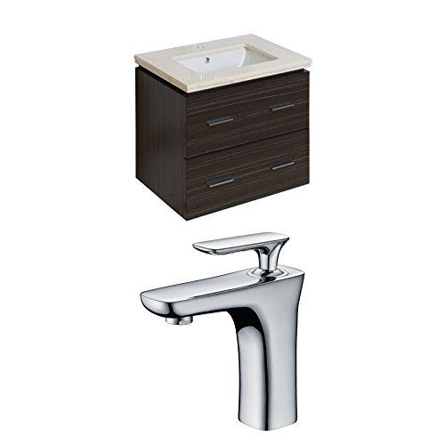 "cheap Jade Bath JB-8388 24"" W x 18"" D Plywood-Melamine Vanity Set with Single Hole CUPC Faucet, Dawn Grey"