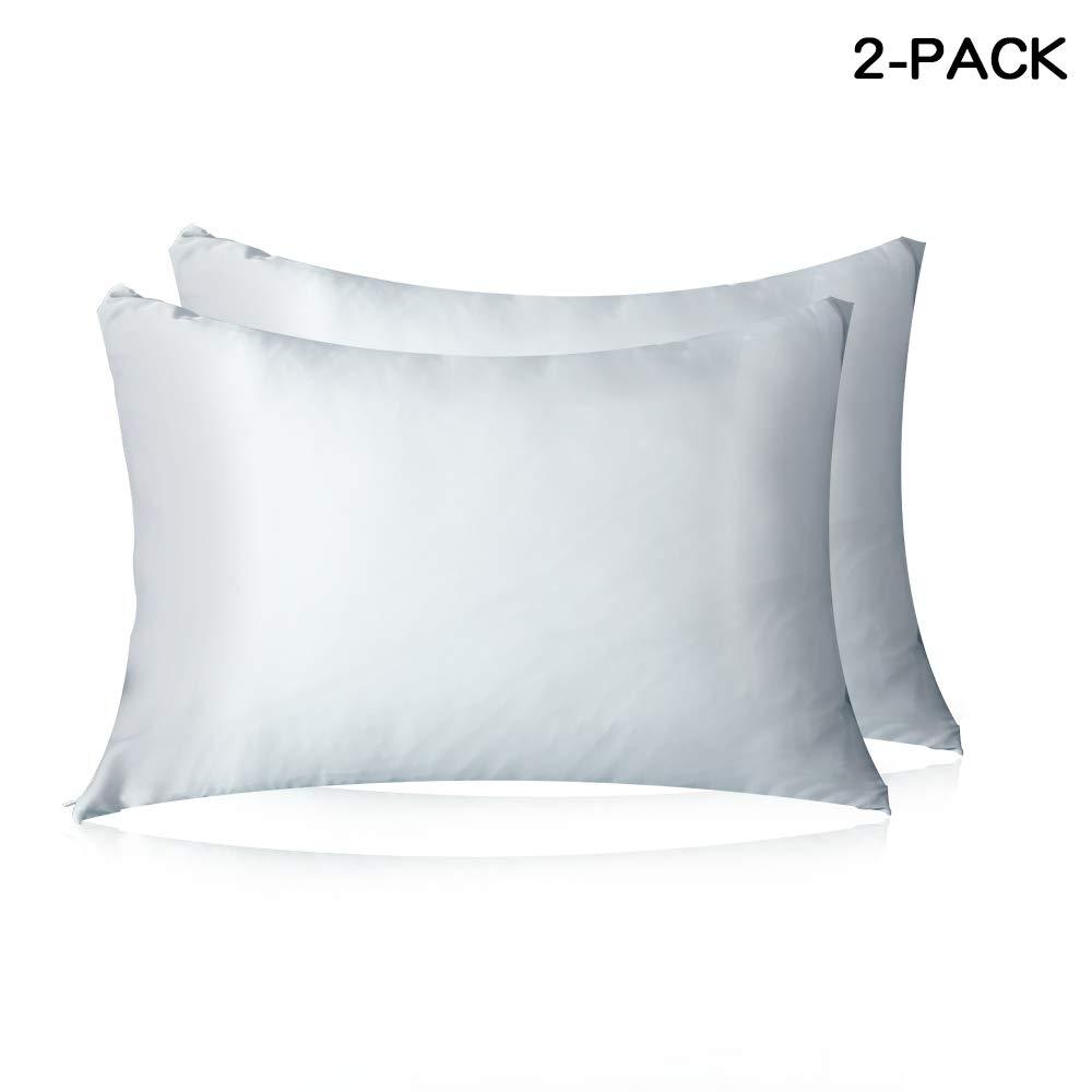 HISEN HOME マルベリーシルク100%枕カバー 髪と肌用 両面19匁シルク キング B07RVLLS61 ホワイト キング