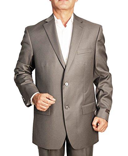 Tasso Elba Men`s 2 Button Wool Cashmere Blend Sport Coat (Taupe,42L)