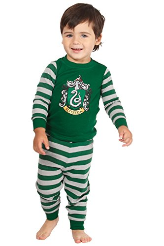 Harry Potter 'Slytherin House Crest' Cotton Baby Pajama Gift Set, Slytherin, 18MO -