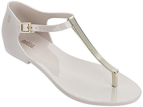 Melissa Women's Honey Chrome Sandals, Beige, 7 B(M) US