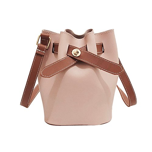 Cross Women Pink Bag Shoulder Leather Pure Body Color Purse Vintage Bag Bag Handbag Satchel Crossbody SOMESUN XRBxXw