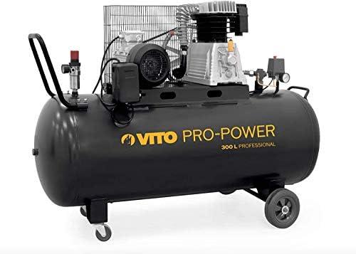 Vito Professional 300 Liter Kompressor 4ps 10 15 Bar Max Druckluftkompressor Mit Ölschmierung Kolbenkompressor 400l Min Baumarkt