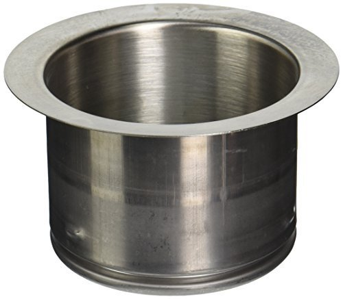 Waste King 3141 3-Bolt Extended 3-Bolt Mount Sink Flange, Satin Nickel by Waste King by Waste King