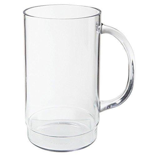 G.E.T. 00083-1-SAN-CL Clear 20 Oz Beer Mug w/ Handle - 24 /