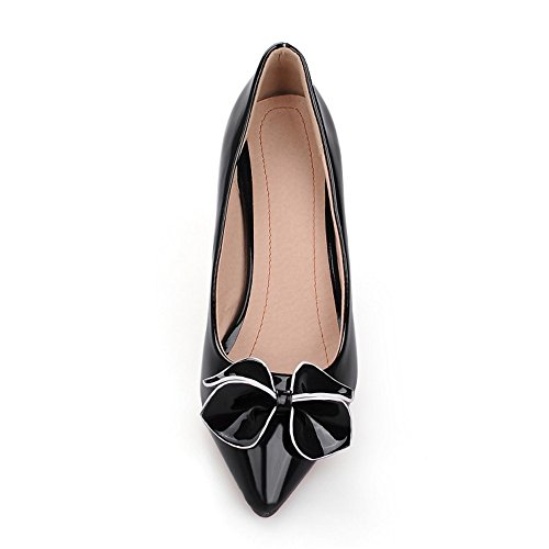 Court TAOFFEN Shoes Black Heel Women Thin 1RqtaR