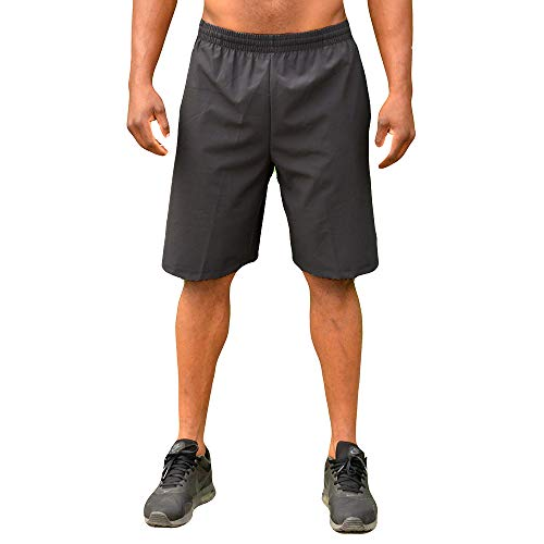 Colosseum Mens Stretch Woven 9 Inch Shorts Charcoal - XL - Colosseum Mesh Shorts