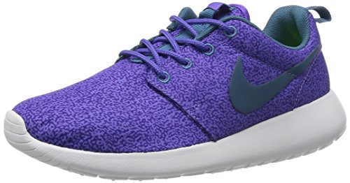 Nike Womens Roshe Run Sneakers Purple Haze / Hyper Grape / Volt / Rift Blue