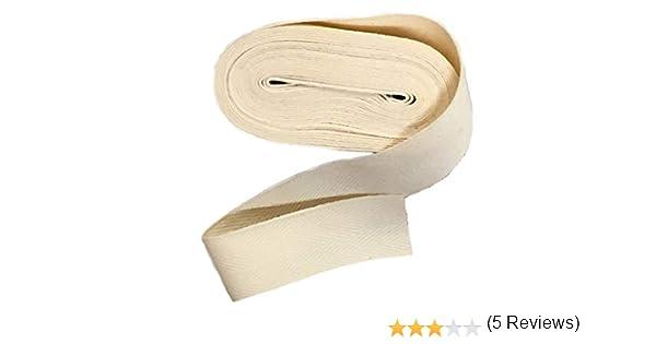 Sarga de algodón orgánico – Cinta – 1/2 pulgadas de ancho por el patio: Amazon.es: Juguetes y juegos
