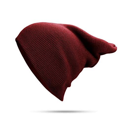 Summer-lavender Women Hat Knitted Beanie Winter Hats for Women Mens Ladies Unisex Bone Keep Warm Skull Cap,Red Wine