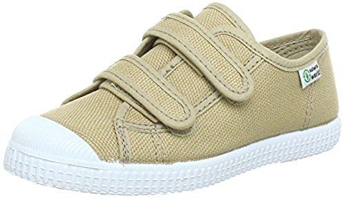 Natural World W78020- Kinder Klettschuhe Halbschuhe Sneakers beige