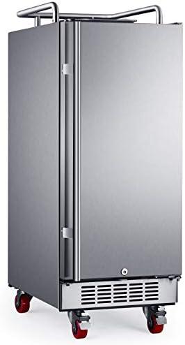 """EdgeStar BR1500SSOD 15"""" Built-In Outdoor Kegerator Conversion Refrigerator"""
