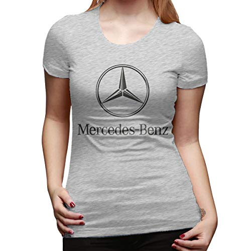 SHENGN Womens Customized Tops Tees Mercedes Benz Logo Short Sleeve Cool Tshirts Gray XL