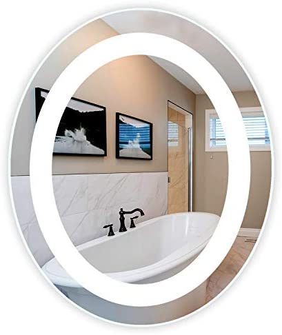 LED Front-Lighted Bathroom Vanity Mirror 30 Wide x 36 Tall
