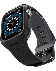 Spigen Compatible for Apple Watch Series 6/SE/5/4 44mm Strap with Case Liquid Air Pro - Black