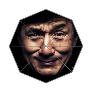Jackie Chan Custom Rain Auto Foldable Umbrella Wind Resistant Folding Umbrella