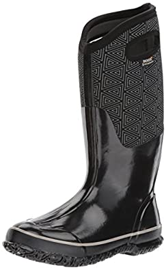 e2cb2f59eb Bogs Women's Classic Triangles Snow Boot, Black: Amazon.co.uk: Shoes ...