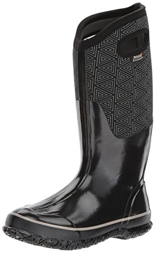 Bogs Women's Classic Triangles Snow Boot, Black/Multi, 9 M US by Bogs