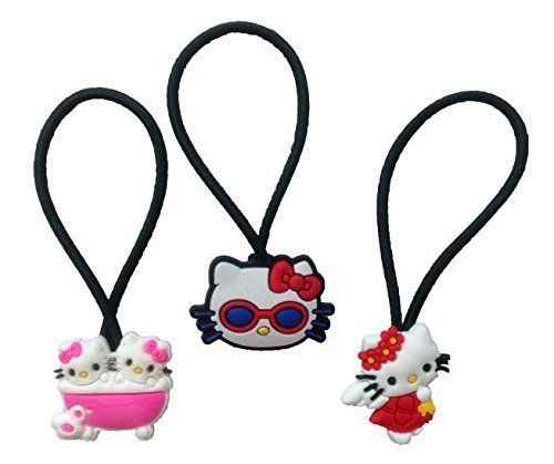 Hello Kitty Hairband Ponytail Holder Mini Set 3 Pcs (Cartoon Star Dolls)