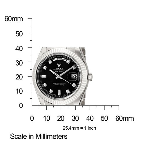 ed8b881c8b34 Home   Uncategorized   Rolex Men s Day-Date II Automatic White Diamond  Black Dial President 18k Solid White Gold